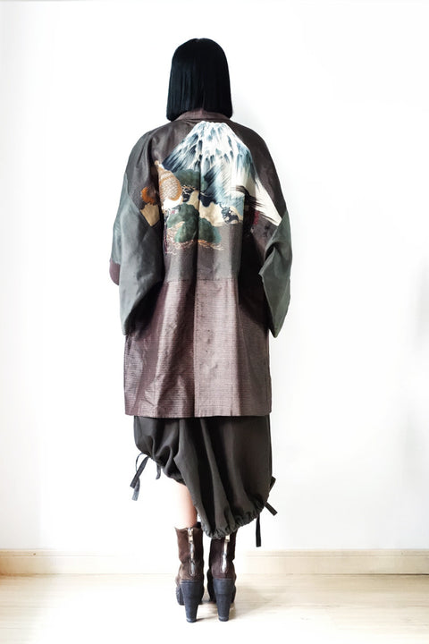 Haori with Hawk Painting