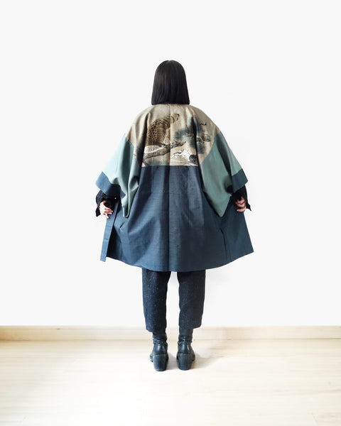 Haori with Eagle Painting