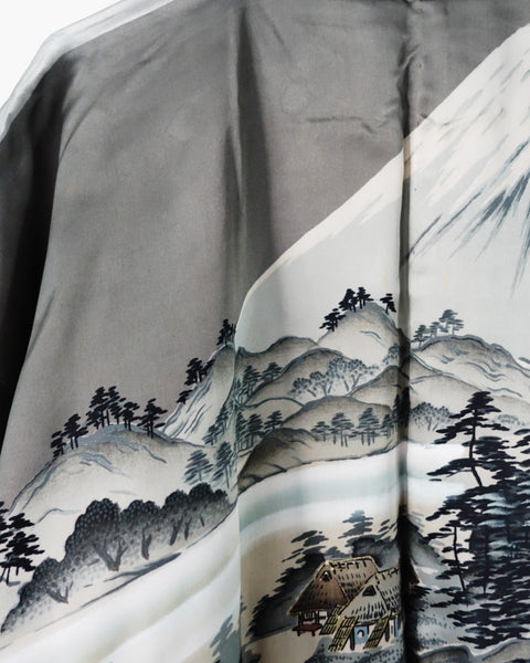 Haori with Fuji Village Painting