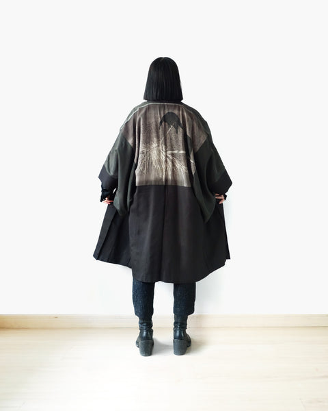 Haori with Raven Painting