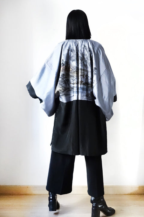 Haori with Sumi-e Painting