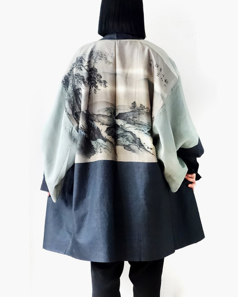 Haori with Scenery Painting