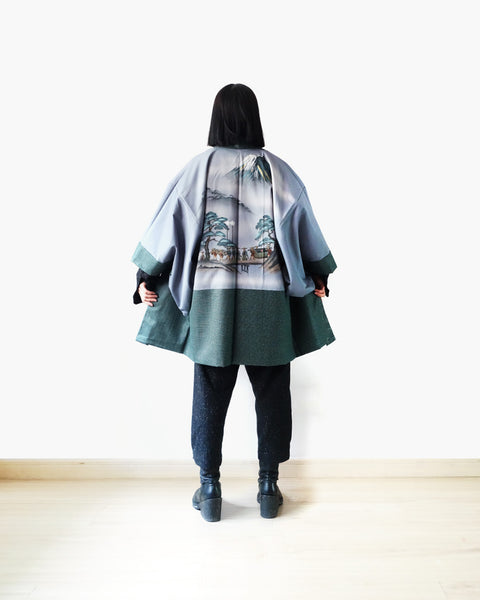 Haori with Village Scene Painting