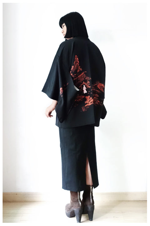 Leisure Time Embroidered Haori