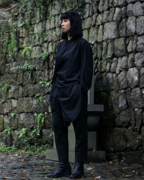 ROSEN Cicero Shirt in Black Cotton