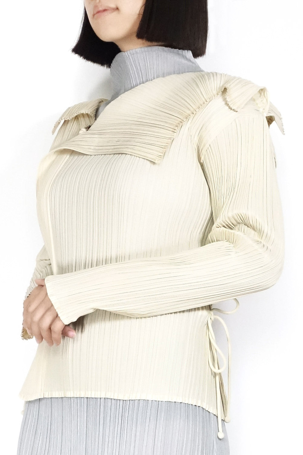 Issey Miyake FETE Pleated Blouse Sz 2