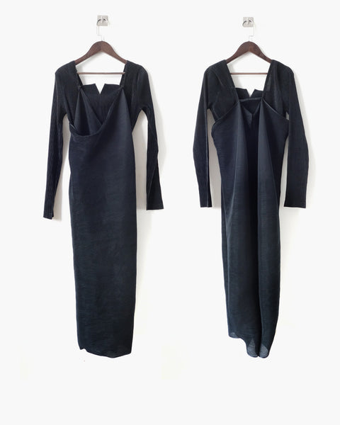 Issey Miyake Pleated Cocktail Dress Sz 3