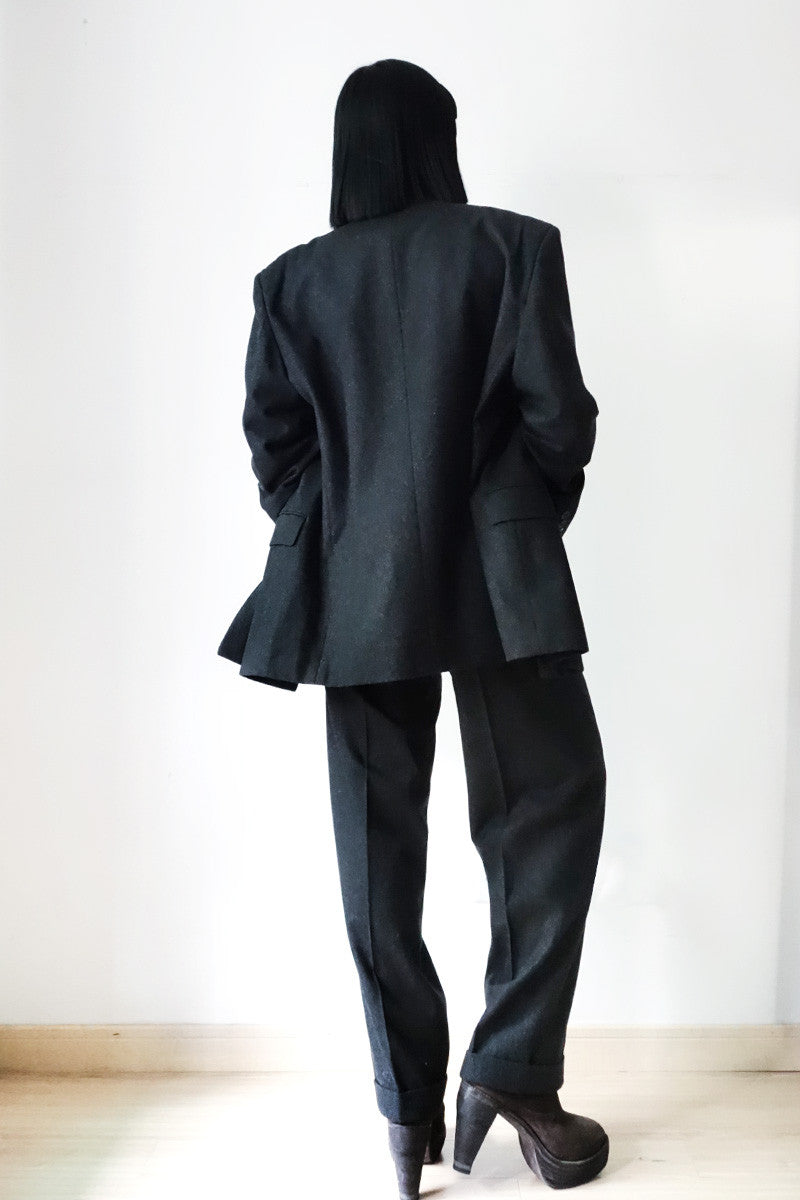 Issey Miyake Men Double-Breasted Wool Suit Sz M