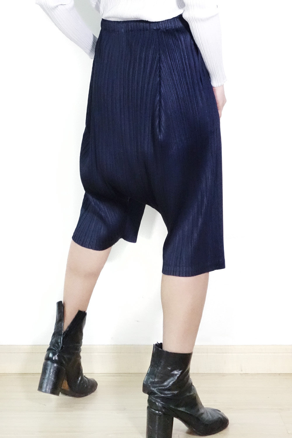 Issey Miyake Pleats Please Drop Crotch Trousers Sz 2