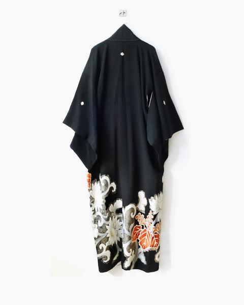 Reconstructed Kimono with Floral Painting