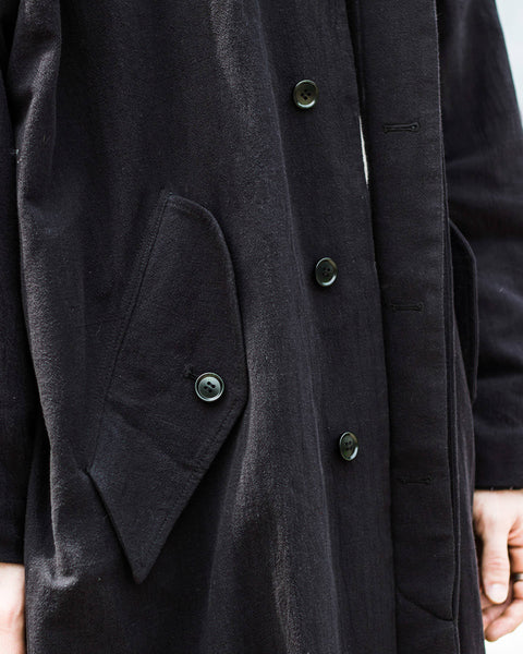 ROSEN Orwellian Coat in Linen