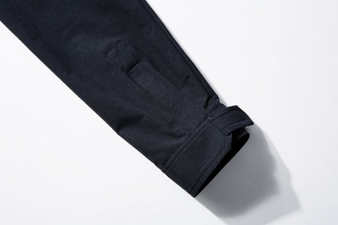 ROSEN Plato Suit in Midnight Black Sandwashed Silk