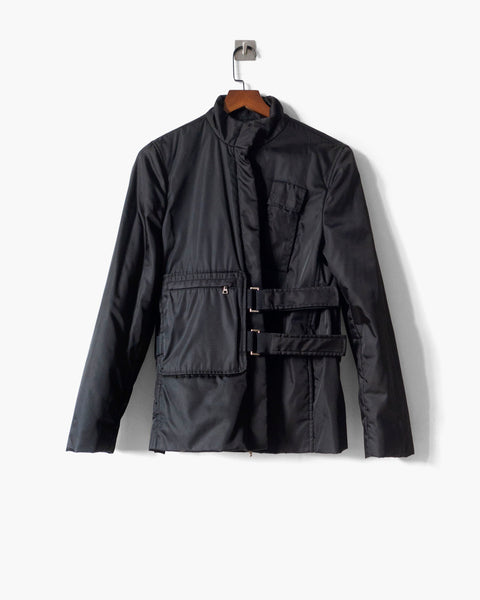 Prada Techno Fabric Padded Jacket Sz 42