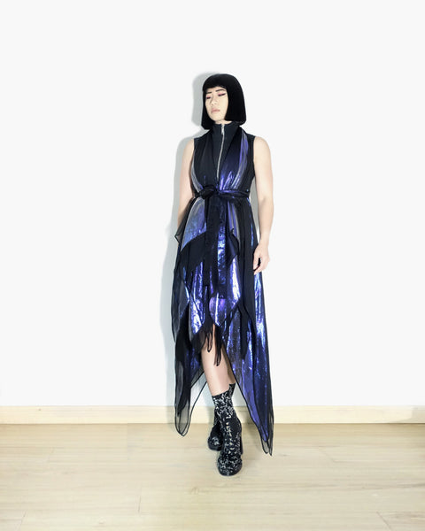Gareth Pugh SS2011 Iridescent Silk Dress Sz 38