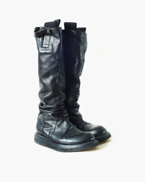 Rick Owens Leather Knee-High Boots Sz 38