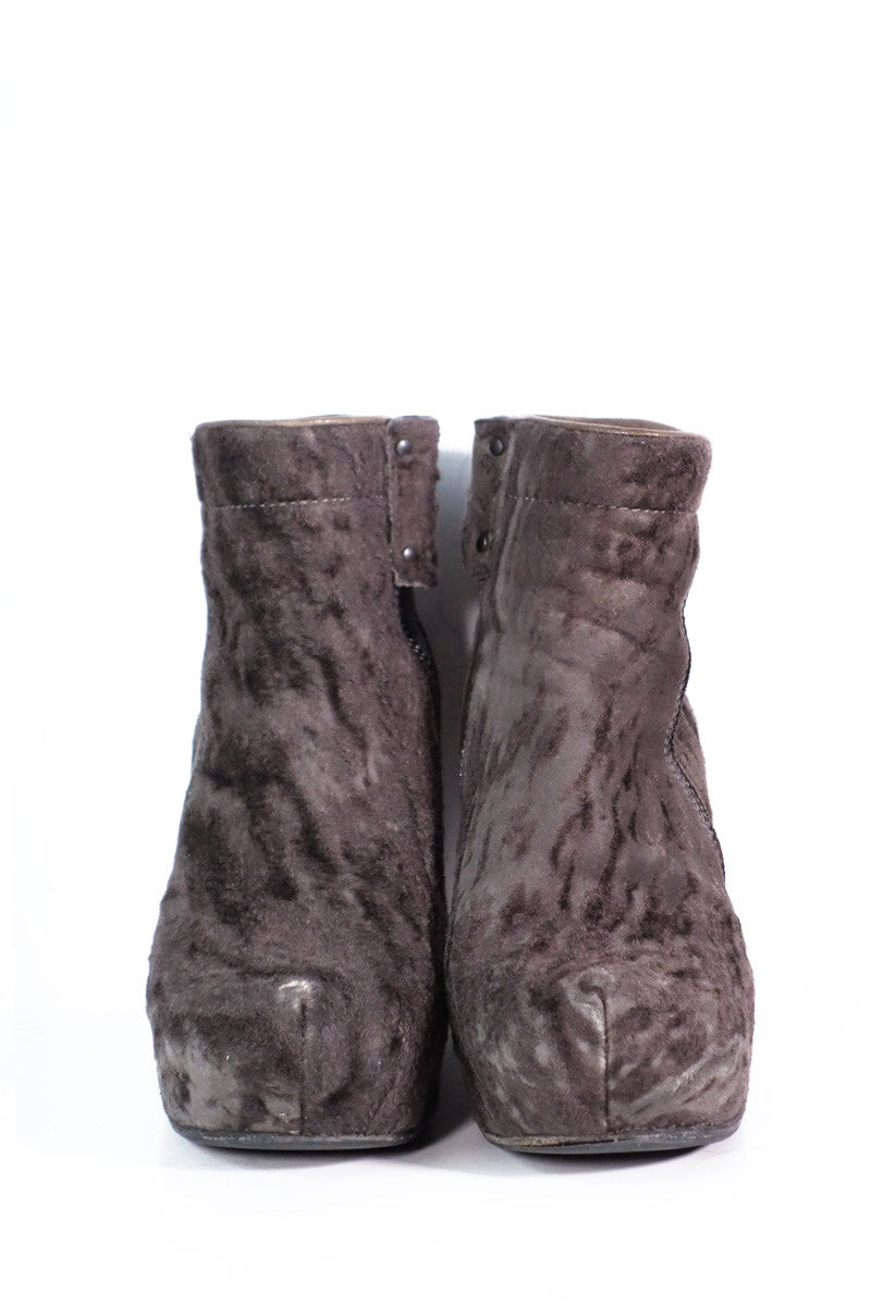 Rick Owens Wedge Boots Sz 37