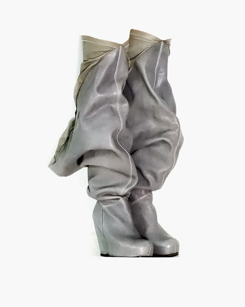 Rick Owens FW2009 Crust Winged Boots Sz 37