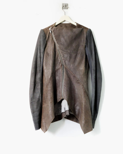 Rick Owens FW2010 Crust Leather Jacket Sz 40