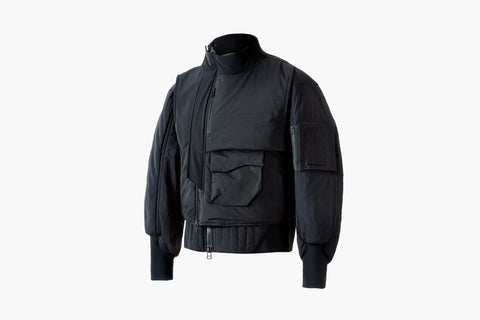 ROSEN-X Kosmos Bomber Jacket in Black