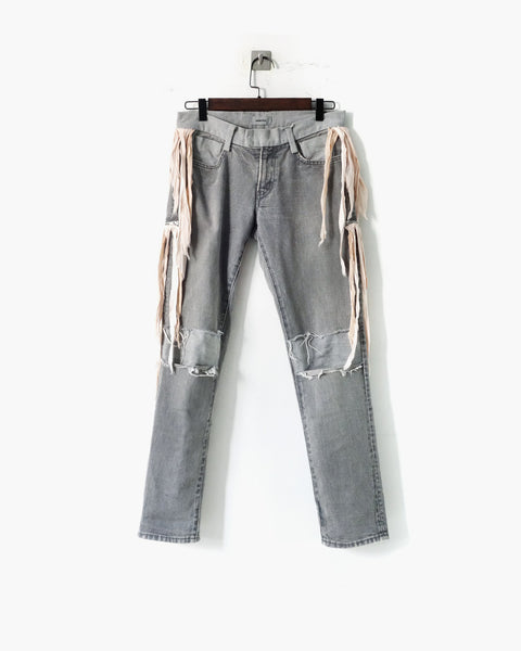 Undercover Distressed Fringed Denim Trousers Sz 1