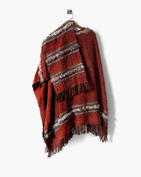 Vintage Handmade Colombian Poncho
