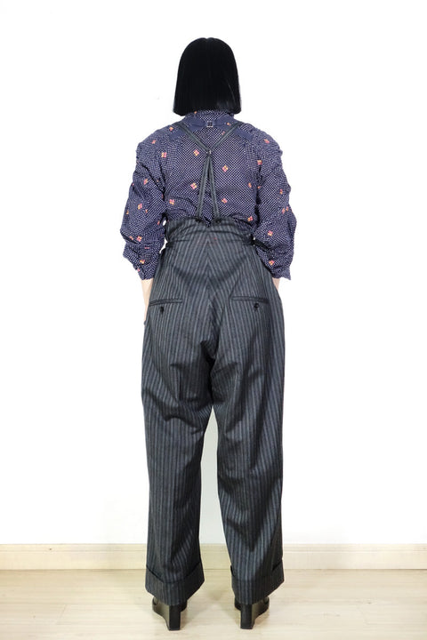 Yohji Yamamoto Y's Red Label Suspender Trousers Sz 2