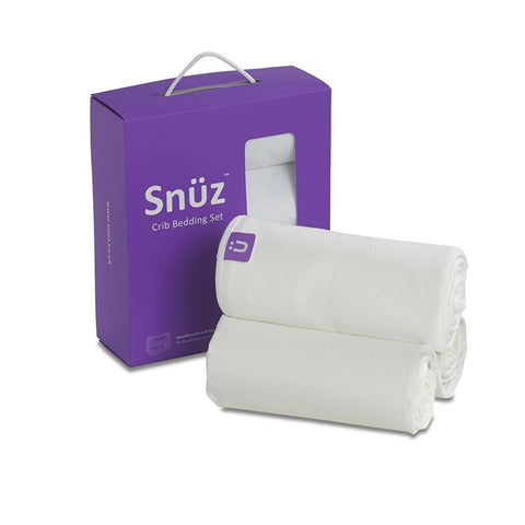 Snuz Crib Bedding Set White
