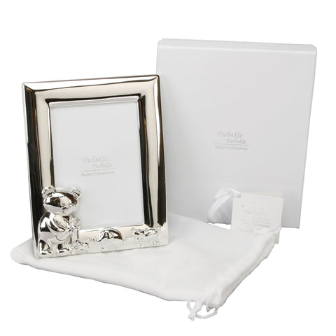 Twinkle Twinkle Silverplated Portrait Photo Frame