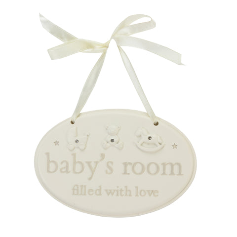 Resin Hanging Babys Room Plaque