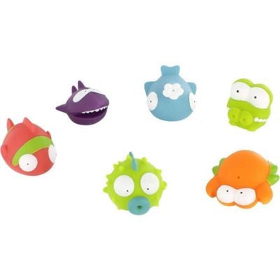 Badabulle Splash and Squirt bath toys x6