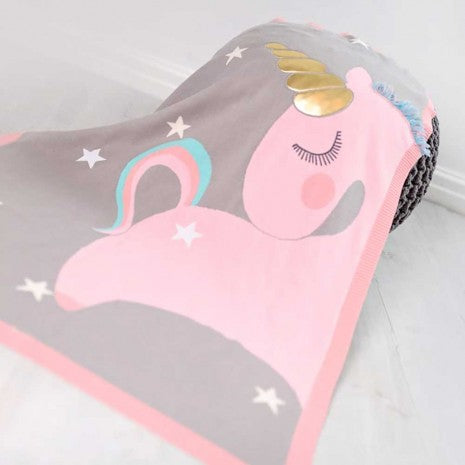 Bizzi Growin Unicorn Picture Blanket
