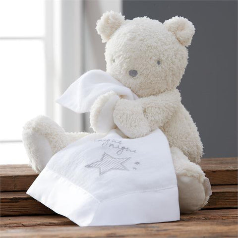 Teddy with Muslin Comforter
