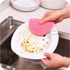 KCASA KC-CS06 Multi-purpose Silicone Dish Washing Cleaning Brush Scrubber Heat-resistant Pad Coaster