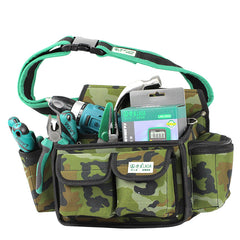 LAOA LA115603 Camouflage Tool Bag Multifunction Waist Bag Professional Electrician Repair Tool Bag