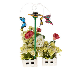 Solar Power Flying Color Butterfly Garden Yard Decoration 3 PCS/Set