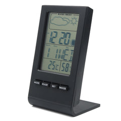 Digital LCD Thermometer Hygrometer Electronic Humidity Meter Weather Forecast Station Indoor Alarm