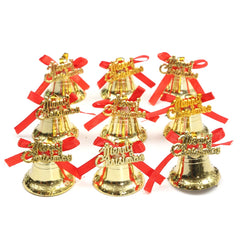9PCS Christmas Xmas Tree Bowknot Bells Hanging Pendant Party Ornament Decoration