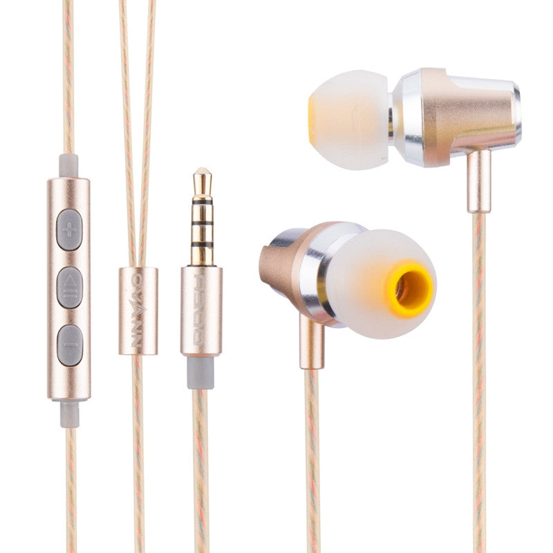 Wired Aluminium In ear Headset 3.5MM Dual Drivers Earphone For iPhone Samsung Huawei Tablet