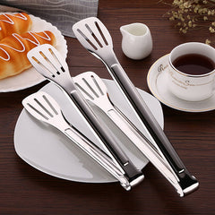 Stainless Steel Barbecue Food Tongs Anti Heat Bread Clip Pastry Clamp Kitchen Buffet Cooking Tool
