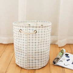 Cloth Storage Basket Waterproof Foldable Cotton Linen Washing Clothes Laundry Box Organizer