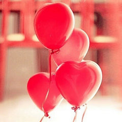 100PCS 12inch Red Heart Latex Balloons Party Decoration