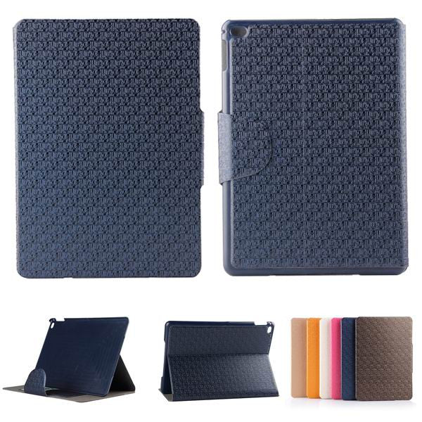 Luxury Maze Grain Card Holder Stand Leather Case For iPad Air 2