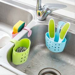 Multi-purpose Kitchen Storage Baskets Hanging Drain Bag Sink Sponge Bathroom Organizer Tools