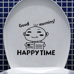 Little Boy Toilet Seat Cover Sticker Bathroom Closetool Waterproof Wall Decal Home Decor