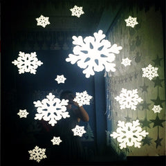 18 Pieces Stereoscopic White Foam Snowflake Window Decals Christmas Tree Decoration Wall Sticker