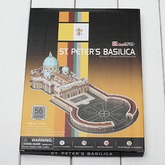 3D Puzzle Building ST Peters Basilica DIY Kids Educational Toy