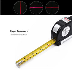 Loskii Multipurpose Laser Level Horizontal Vertical Measure Tape Aligner Ruler 3 Bubbles