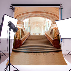 3X5FT Wedding Photography Backdrop European Palace Stair Studio Photo Background