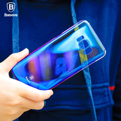 Glaze Series Color Gradient Hard PC Transparent Full Case Cover for Samsung Galaxy S8 Plus