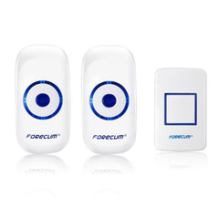 Forecum 8F Doorbell 36 Songs Wireless Smart DoorBell Remote Control with Two Receivers